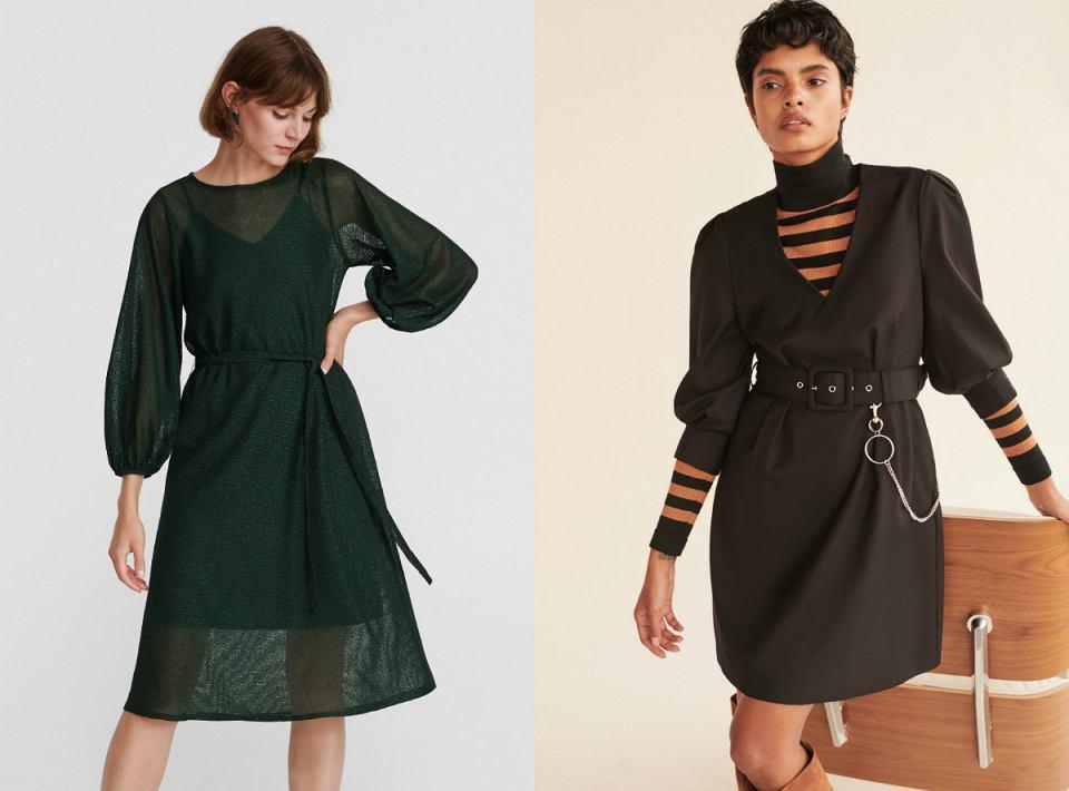 sukienki z bufiastymi rękawami