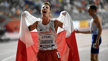 Marcin Lewandowski podczas Mistrzostw Świata w Lekkoatletyce Doha 2019 w Katarze