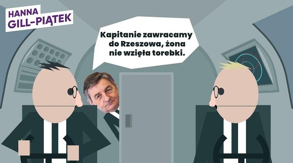 Wybory parlamentarne 2019. Kreskówka parodiująca rządy PiS, którą przygotowała Hanna Gill-Piątek, kandydatka lewicy do Sejmu z Łodzi