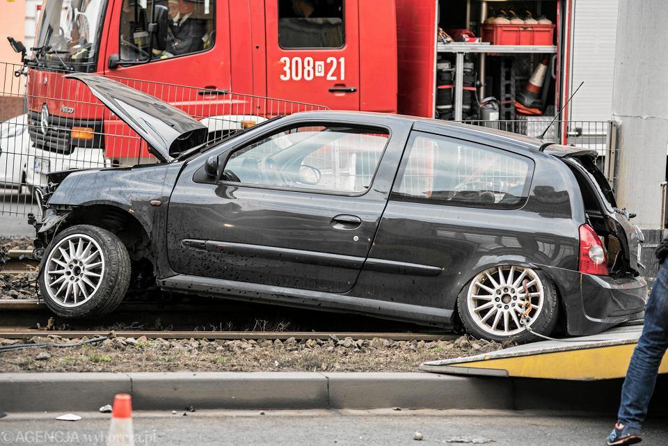 Wypadek samochodowy.