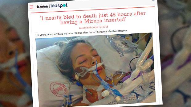 Przez wkładkę domaciczną mogła wykrwawić się na śmierć. Przeżyła, ale nie będzie mogła mieć już dzieci