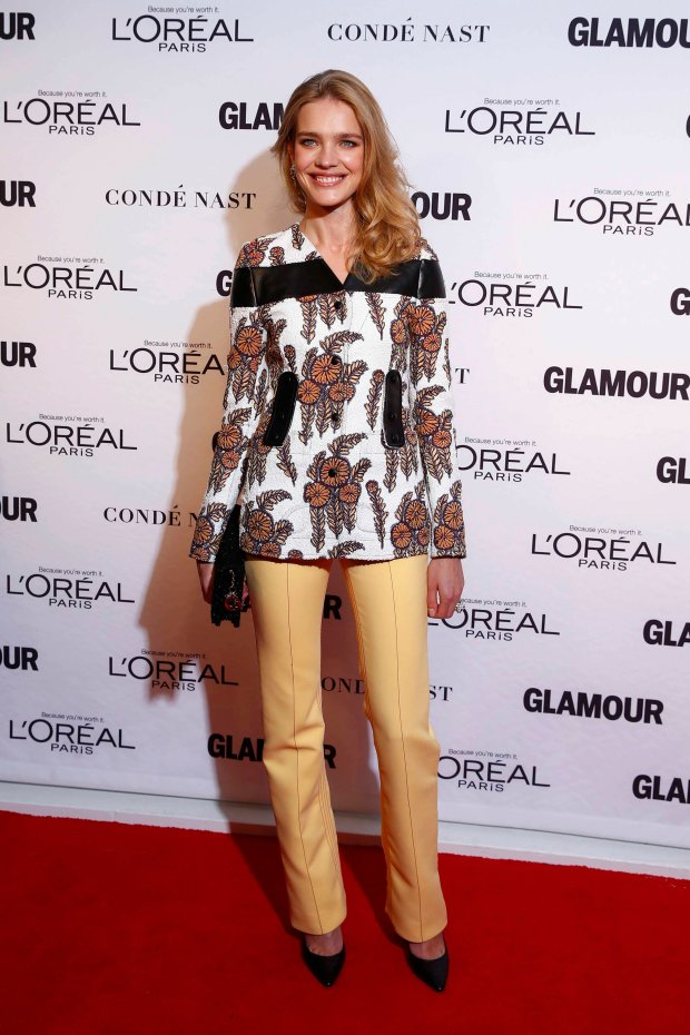 Model Natalia Vodianova arrives for Glamour Magazines annual Women of the Year award ceremony in New York November 10, 2014.  REUTERS/Lucas Jackson (UNITED STATES - Tags: ENTERTAINMENT)