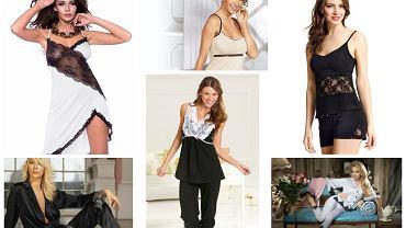 Zmysłowe piżamy i koszule nocne - seksowne czarno-białe propozycje