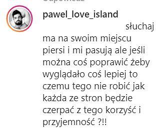 Wypowiedź Pawła z 'Love Island'