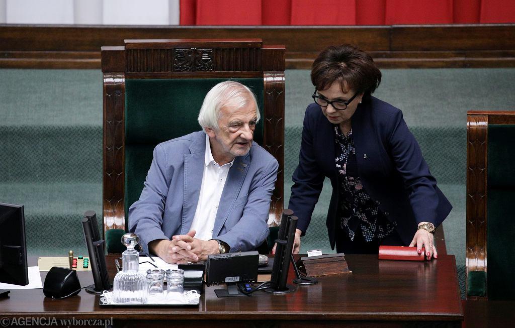 Wicemarszałek Sejmu Ryszard Terlecki oraz marszałkini Sejmu Elżbieta Witek