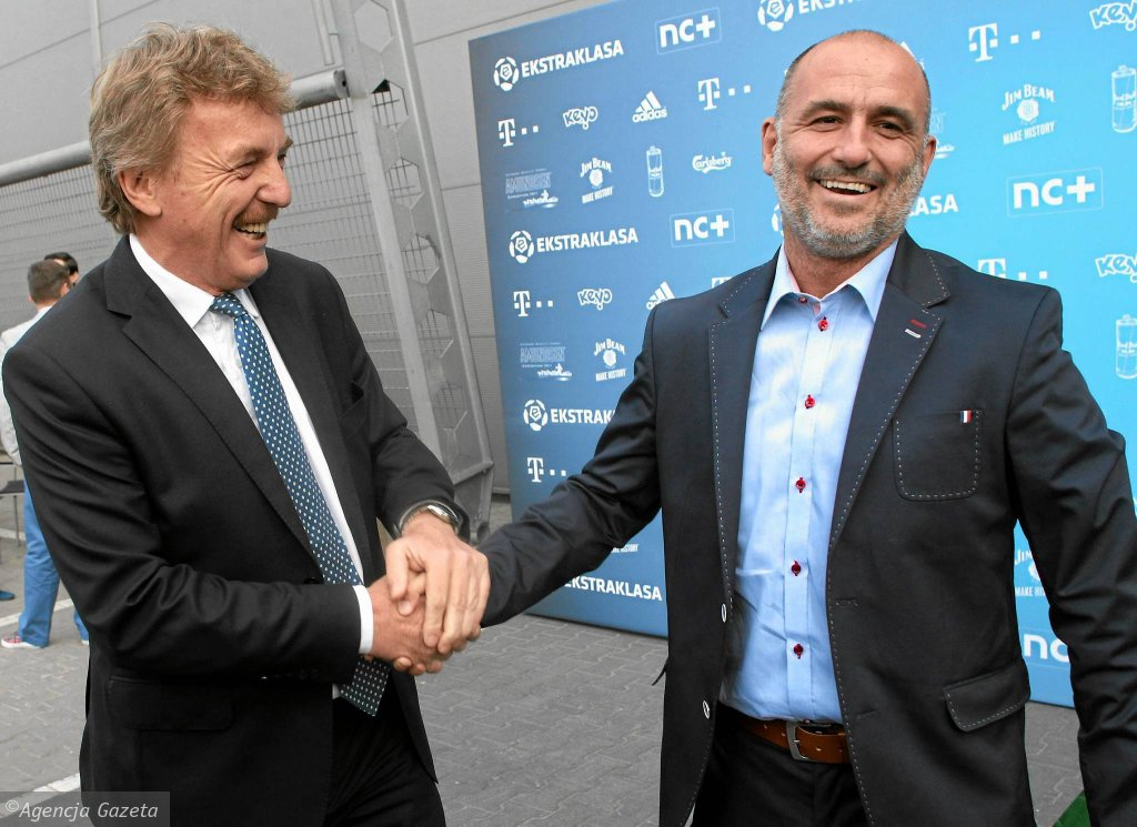 Zbigniew Boniek i Michał Probierz