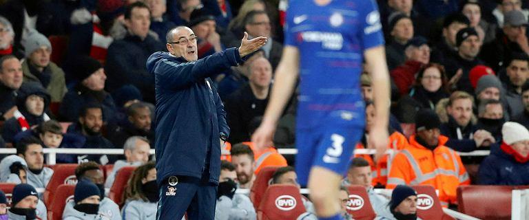 Premier League. Arsenal pokonał Chelsea. Maurizio Sarri wściekły na swoich piłkarzy