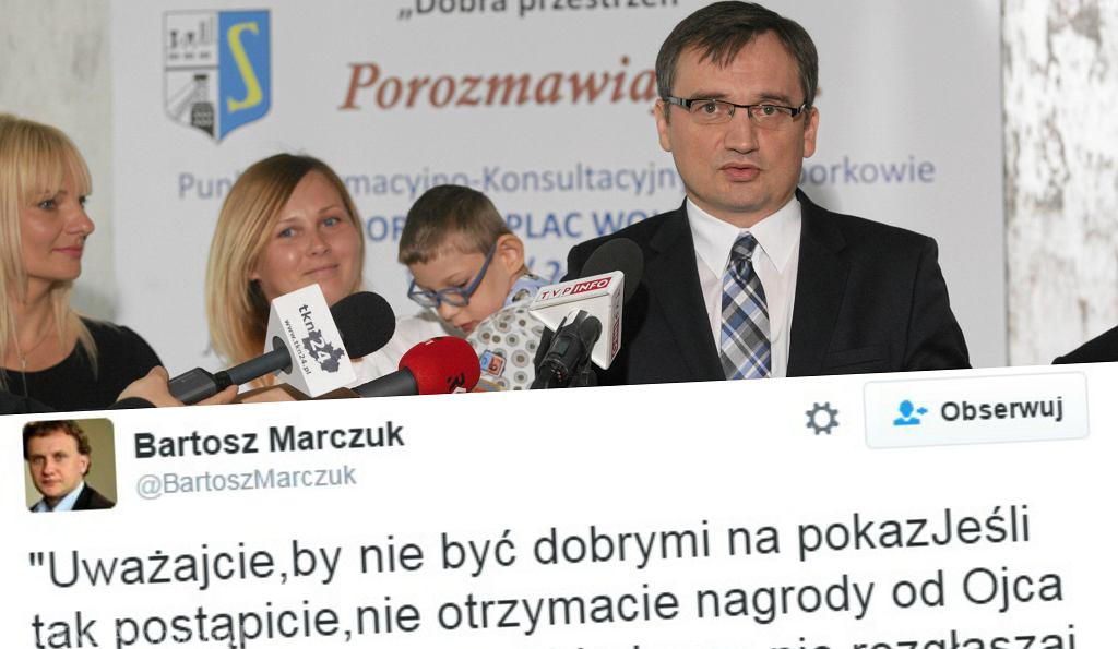 Zbigniew Ziobro przekazuje swoje pieniadze z programu 500+ siedmioletniemu, choremu Filipowi