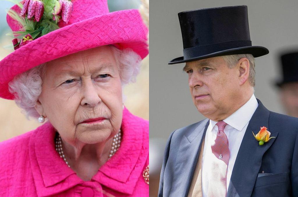 Królowa Elżbieta II i książę Andrzej