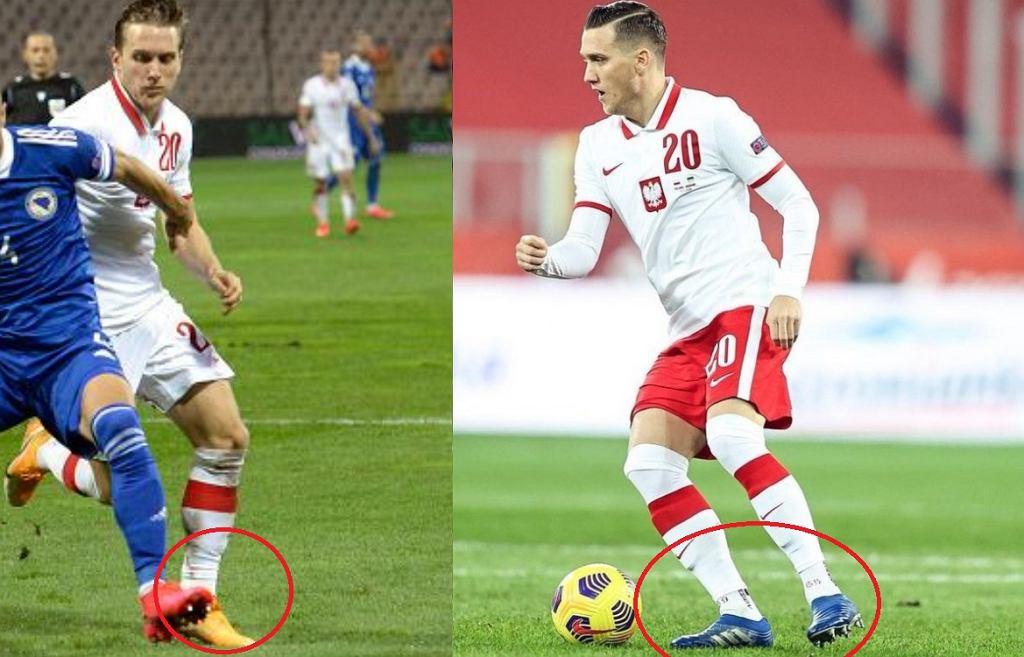 Piotr Zieliński w nowych butach