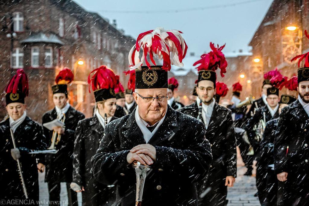 Orkiestra górnicza podczas Barbórki (zdjęcie ilustracyjne)