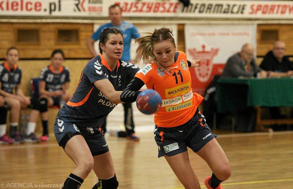 Agnieszka Małecka podczas meczu Korona Handball - SMS ZPRP Płock