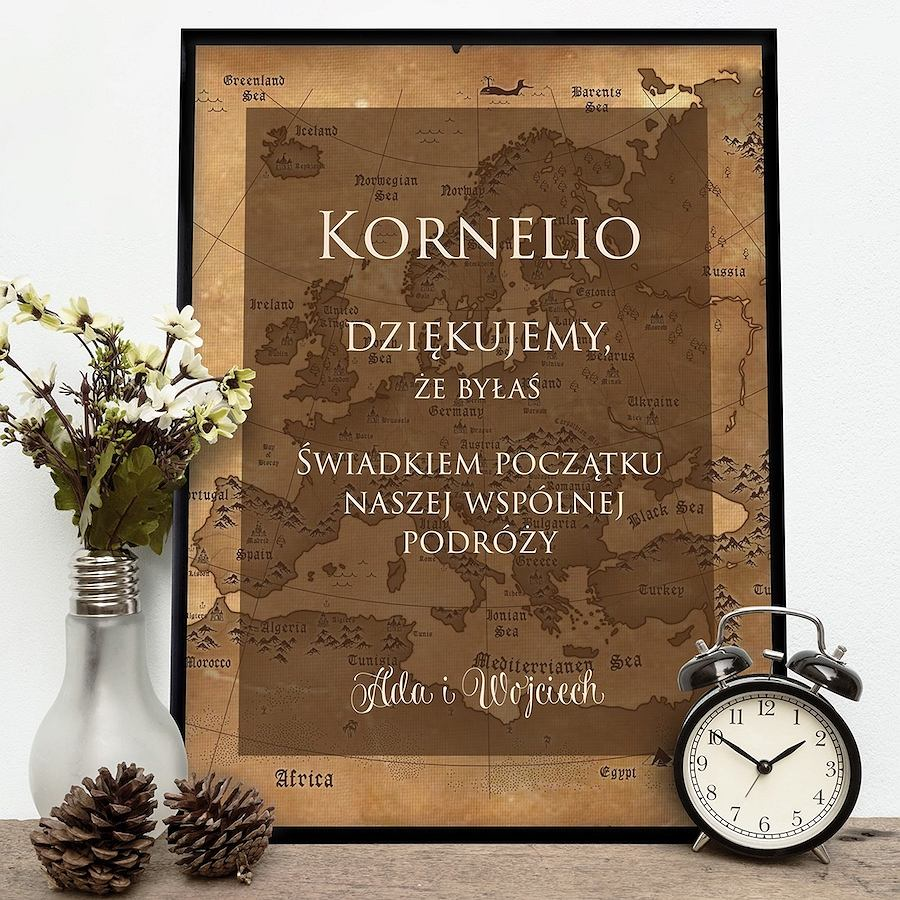 Plakat personalizowany Początek Podróży