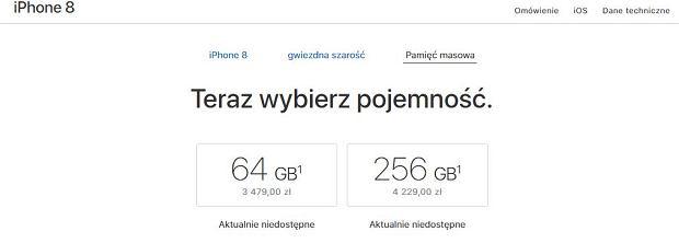 Polskie ceny iPhone'a 8