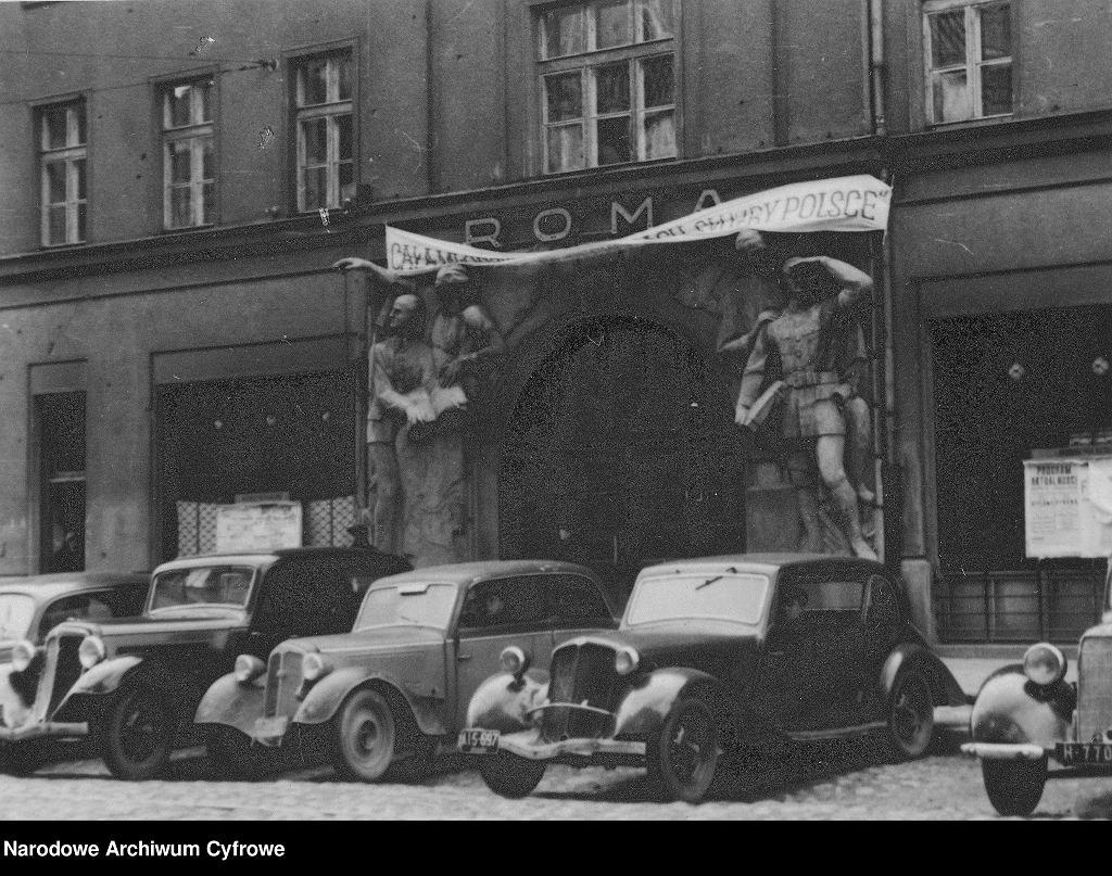 Teatr Roma (Opera) przy ul. Nowogrodzkiej w Warszawie, 1948 r.