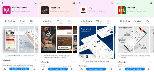 Huawei AppGallery - aplikacje bankowe