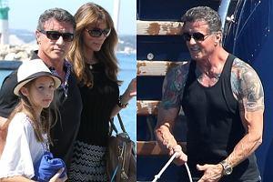 Sylvester Stallone na wakacjach.