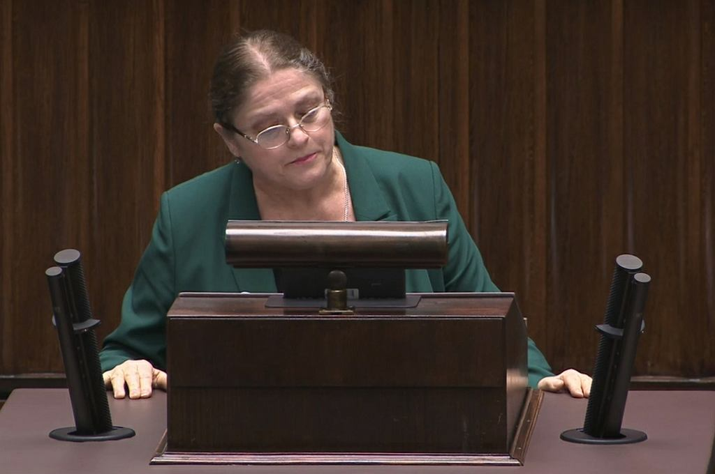 Krystyna Pawłowicz po oświadczeniu Julii Przyłębskiej