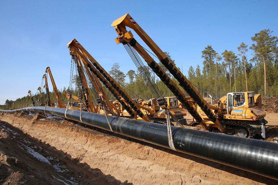 Siły Syberii - gazociąg Gazpromu do Chin, który jest największą inwestycją rosyjskiego koncernu.