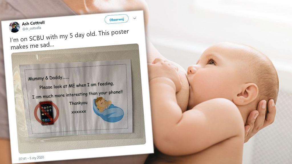 Plakat w szpitalu oburzył mamy: To okropne