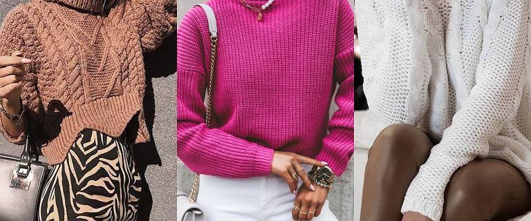 Modne swetry na nowy sezon. Oto ciepłe golfy, kardigany z grubym splotem i wiele więcej. Ceny? Bardzo dobre!