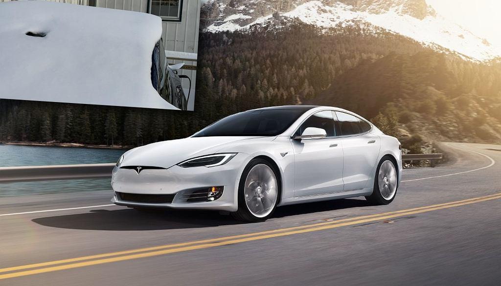 Tesla Model S. Odmrażanie przedniej szyby wokół kamery