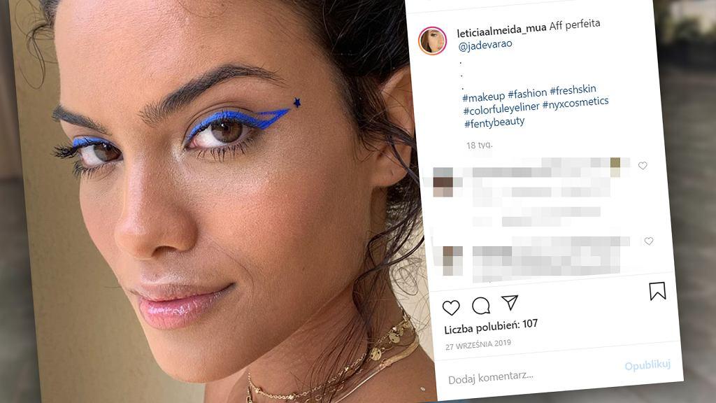 Kolorowe kreski na oku