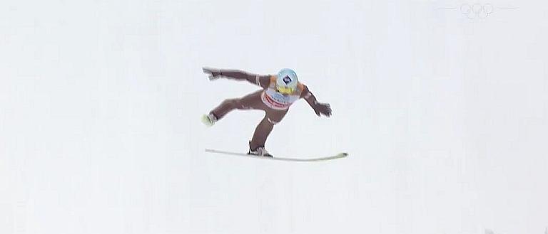 Kamil Stoch podczas konkursu w Oslo
