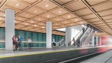 Wizualizacja peronu stacji C20 'Kondratowicza'