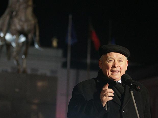 Jarosław Kaczyński w czasie miesięcznicy smoleńskiej