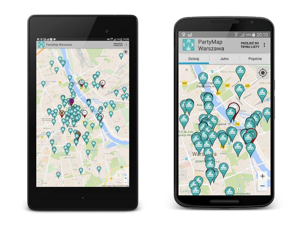 Aplikacja PartyMap