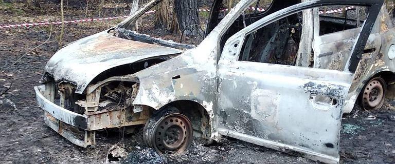 Pożar w lesie pod Annopolem. Strażacy znaleźli spalone auto i zwłoki