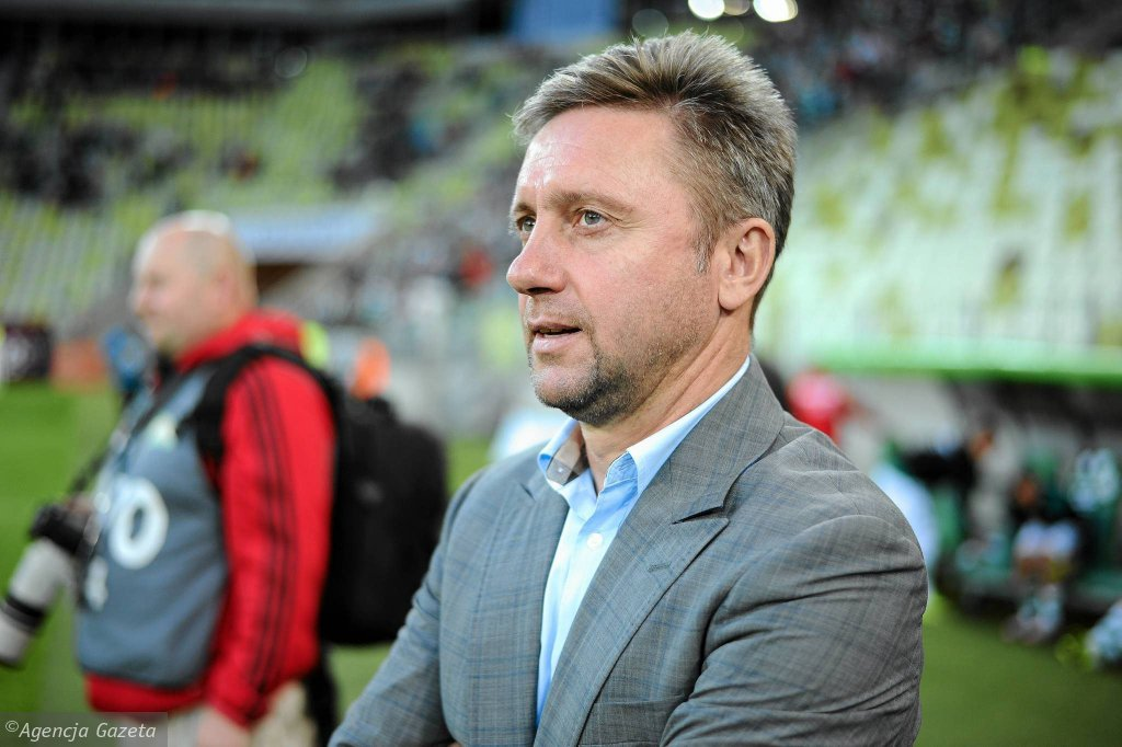 Lechia Gdańsk - Pogoń Szczecin 1:1. Trener Lechii Jerzy Brzęczek