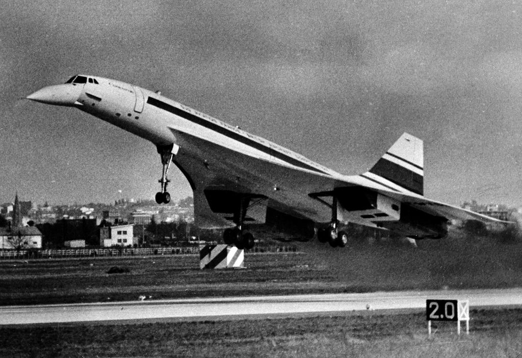 Concorde podczas dziewiczego lotu 2 marca 1969 roku