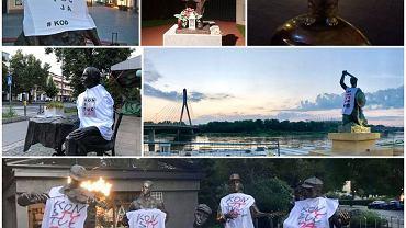 W koszulki z napisem Konstytucja KOD w całej Polsce ubrał w nocy 27 pomników