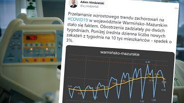 Wykres opublikowany przez ministra Niedzielskiego
