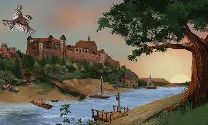 Kadr filmu animowanego 'Sandomierz - Królewska Opowieść'