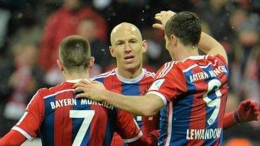 Franck Ribery, Arjen Robben i Robert Lewandowski
