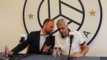 Andrea Anastasi (z prawej) nowy trenerem Onico. Z lewej prezes klubu Piotr Gacek