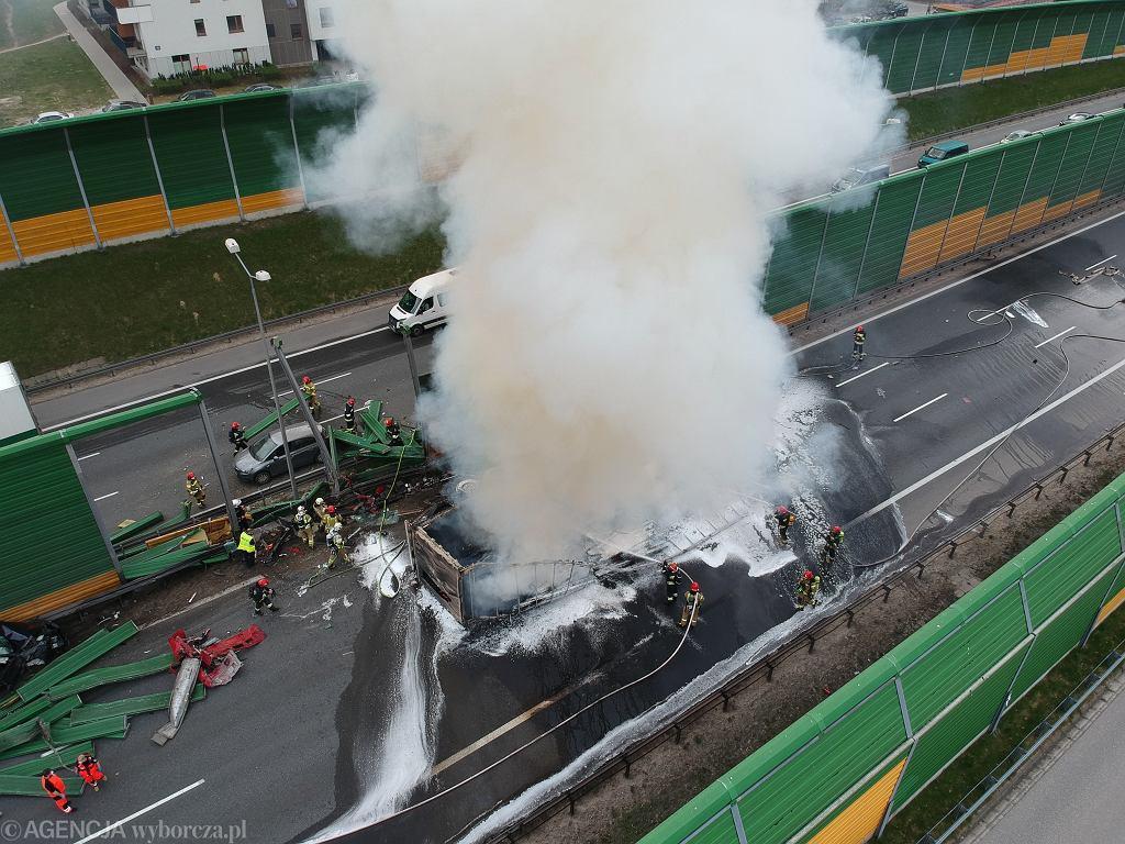 Wypadek na trasie S8