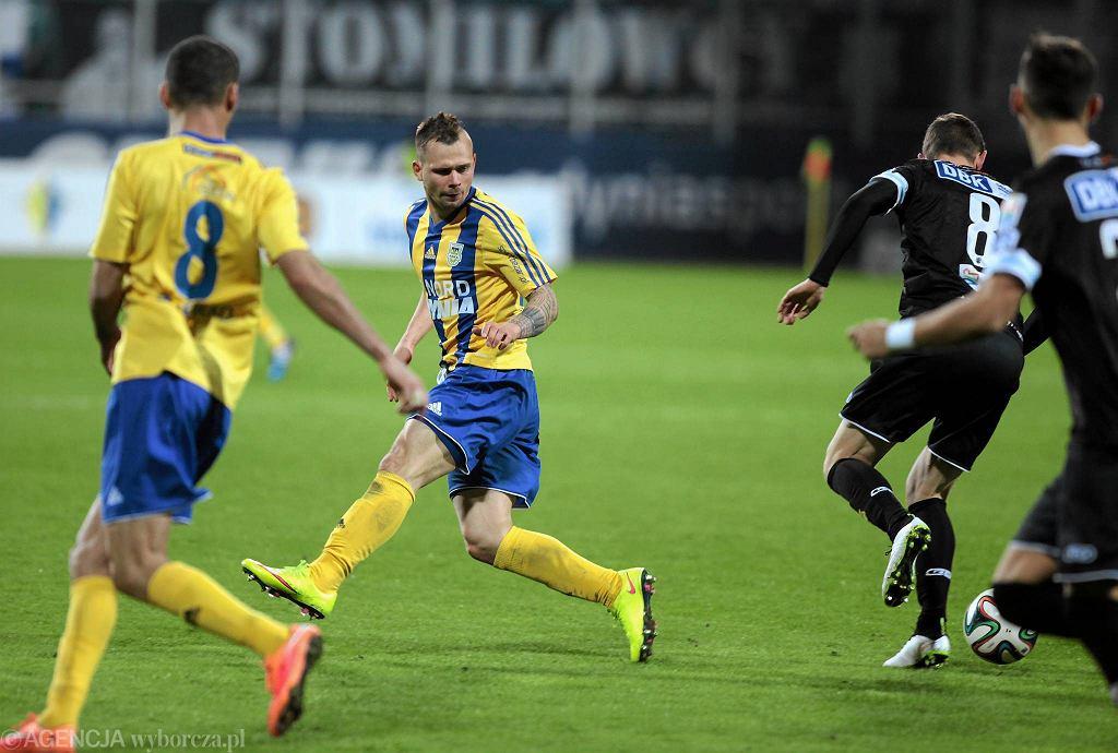 Michał Renusz zdobył z Chojniczanką efektowną bramkę z lewej nogi.