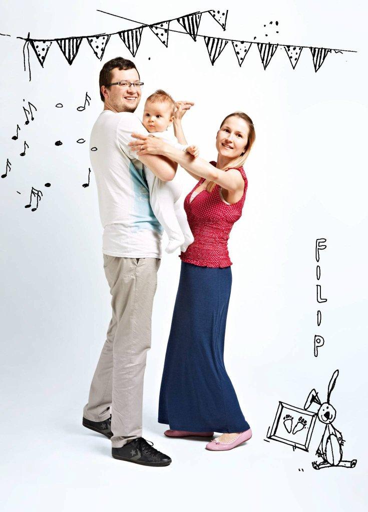Filip z rodzicami