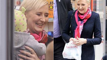 Agata Duda w towarzystwie ochroniarza wybrała się na zakupy do Rossmanna. W pewnym momencie jedna z klientek dała jej do potrzymania swoje dziecko. Domyślacie się, co się stało potem? Koniecznie zobaczcie zdjęcia.