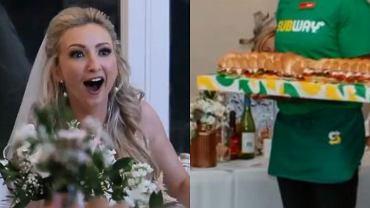 Na weselu pojawili się dostawcy z fast-foodem dla panny młodej