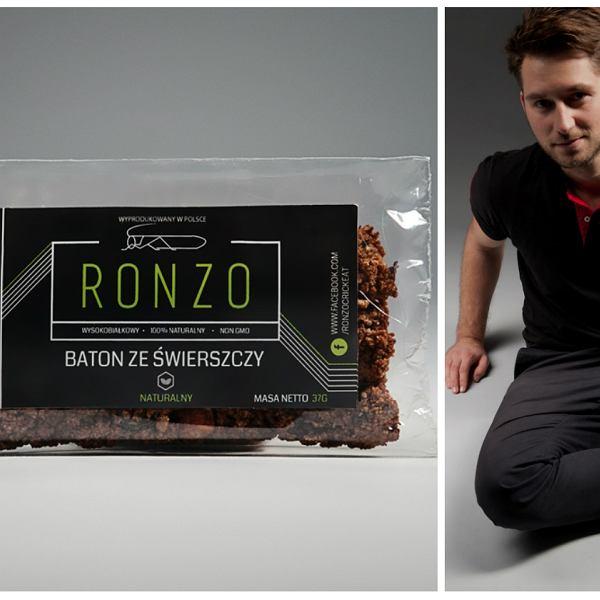 Jacek Janicki, szef firmy Ronzo, która produkuje żywność ze świerszczy