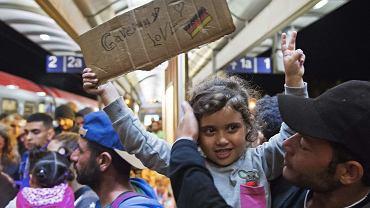 Uchodźcy na stacji w Saalfeld