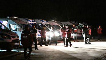 21 ofiar ultramaratonu w Chinach. Na zdjęciu: działania ratowników