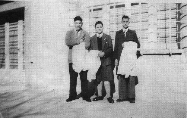 This early 1950's picture released by journalist Sergio Rubin, shows Jorge Mario Bergoglio, right, posing with unidentified schoolmates of a preparatory school in Buenos Aires, Argentina. Cardinal Bergoglio, who took the name of Pope Francis, was elected on Wednesday, March 13, 2013 the 266th pontiff of the Roman Catholic Church. (AP Photo/Courtesy of Sergio Rubin, ho)
