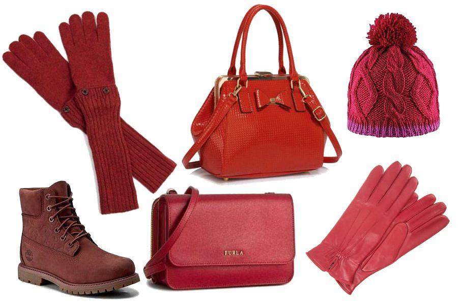 modne dodatki w czerwonym kolorze