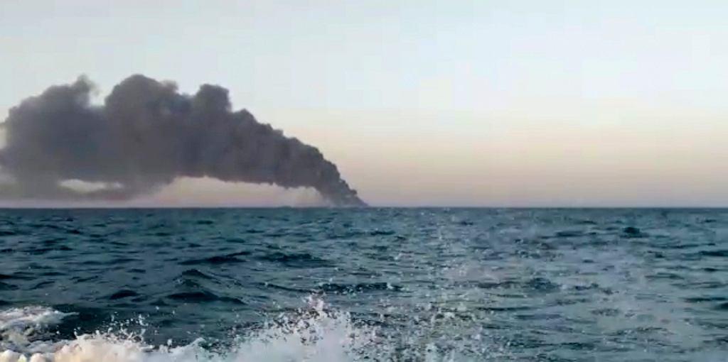 Pożar na irańskim okręcie Chark
